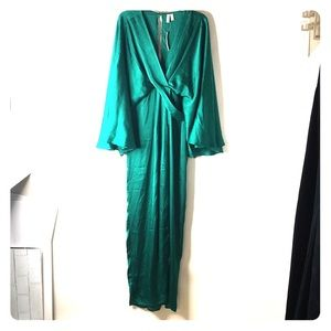 ASOS Dress Oriental Size 12 Green Kimono *W